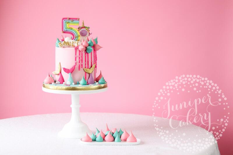 Miraculous Magically Fun Rainbow Unicorn And Mermaid Birthday Cake Funny Birthday Cards Online Barepcheapnameinfo