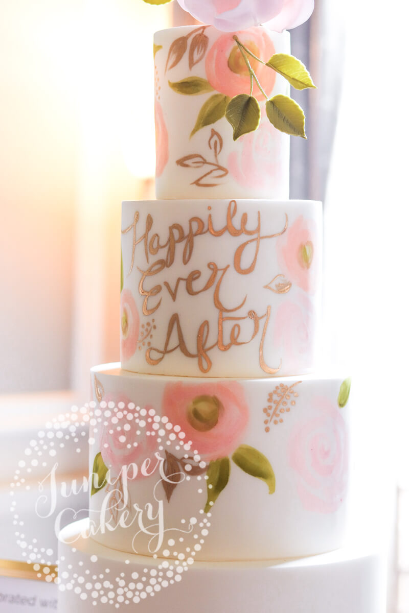 Saltmarshe Hall wedding show with cakes by Juniper Cakery