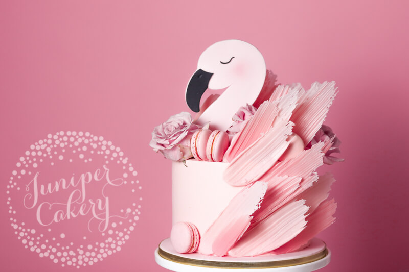 Pink flamingo cake by Juniper Cakery