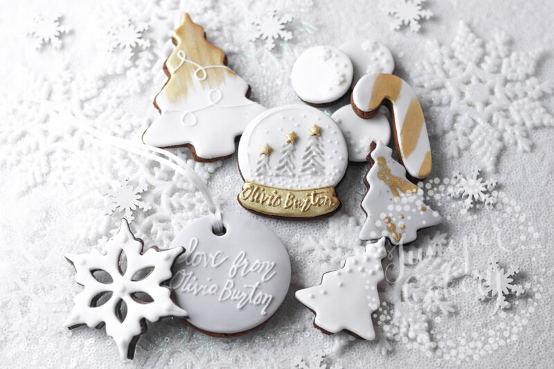 Bespoke cookies for Olivia Burton London by Juniper Cakery