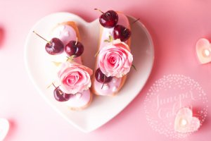 Recipe: Cherry and and Rose Bellini Eclairs for Valentine's Day!