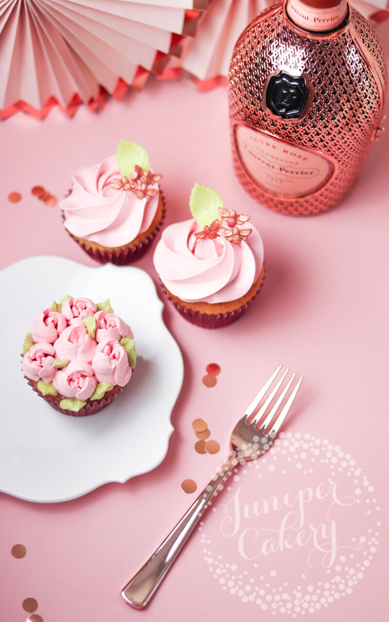 Pretty Mother's Day cupcakes via Juniper Cakery