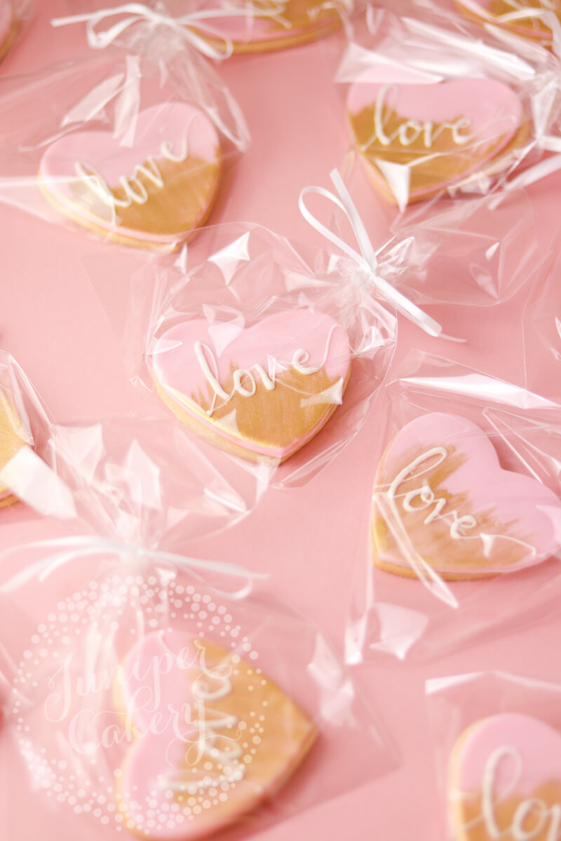 Cookie wedding favours at Saltmarshe Hall by Juniper Cakery