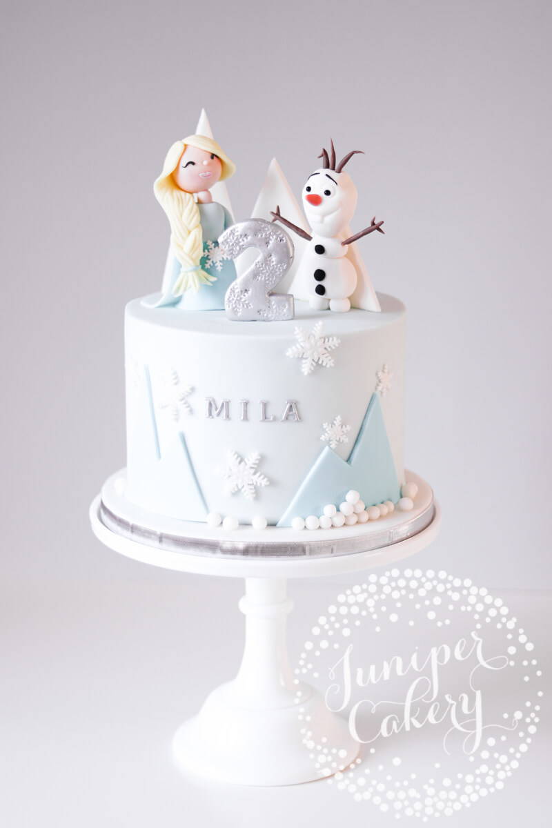 Frozen birthday cake by Juniper Cakery