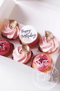 Pretty Blush Birthday Cupcakes!