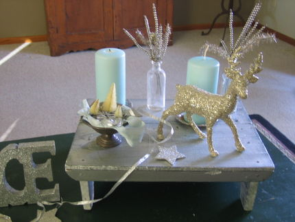 coffee table holiday bling - junkmarket style