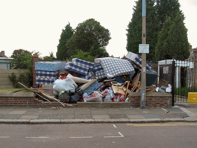 Mattress Fly Tipping In London Photo Taken By Alan Stanton No Changes Made