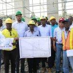 Le Président Jovenel Moïse a visité le chantier de l'échangeur de Carrefour 28