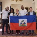 Richard Joseph, rencontre la présidente chilienne Michelle Bachelet après son acte héroïque 32