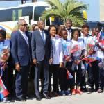 Jovenel Moïse accueille chaleureusement les Grenadières 44