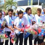 Jovenel Moïse accueille chaleureusement les Grenadières 39