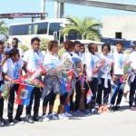 Jovenel Moïse accueille chaleureusement les Grenadières 45