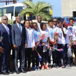 Jovenel Moïse accueille chaleureusement les Grenadières 31