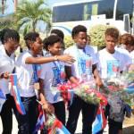 Jovenel Moïse accueille chaleureusement les Grenadières 48