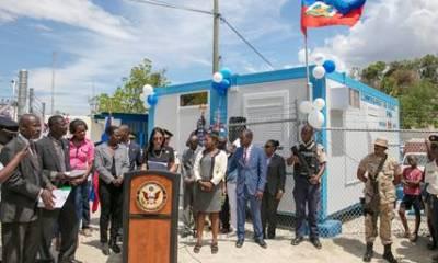 Les Etats-Unis se joignent à la Police Nationale d'Haïti pour l'inauguration du sous-commissariat de police de Diegue 37