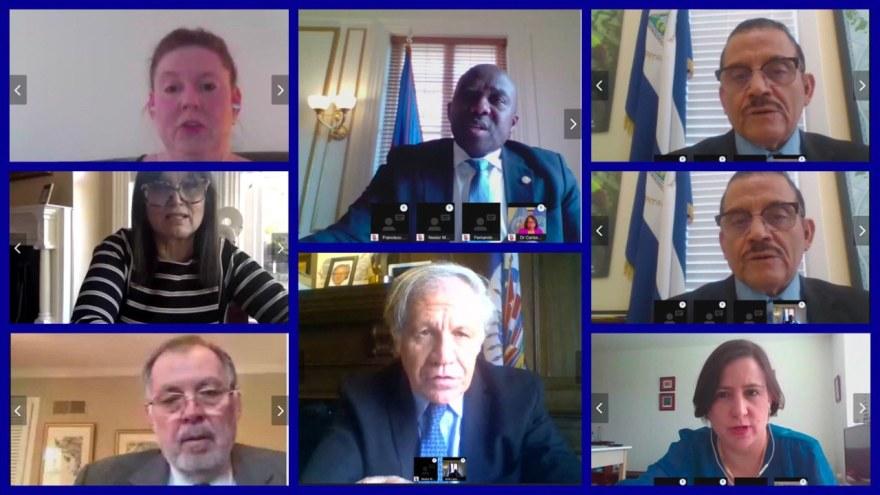 Haïti a présidé la première réunion virtuelle de l'OEA sur le covid-19