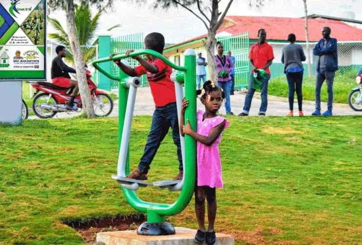 Éric Jean-Baptiste inaugure un Green Gym dans la commune de Paillant