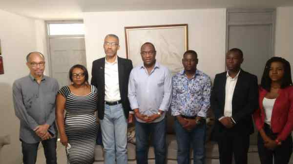 Une délégation de MTVAyiti en visite de solidarité au parti politique AAA