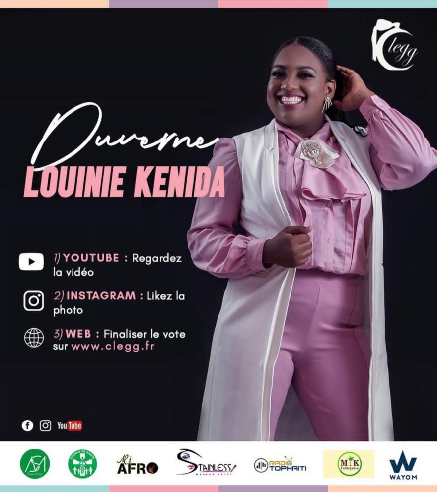 Louinie Kenida Duverné à la conquête du concours Top Face Clegg
