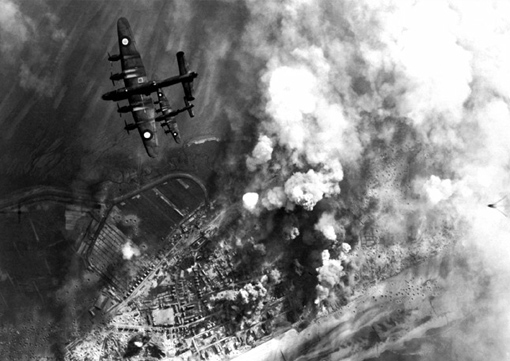 6 Group's last bombing raid against the coastal batteries in Wangerooge, on the Friesian Islands, on April 25th, 1945. Five Canadian crews were lost following a chain collision.