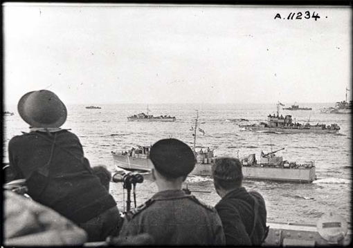 Part of the assault fleet gathered for Operation Jubilee.