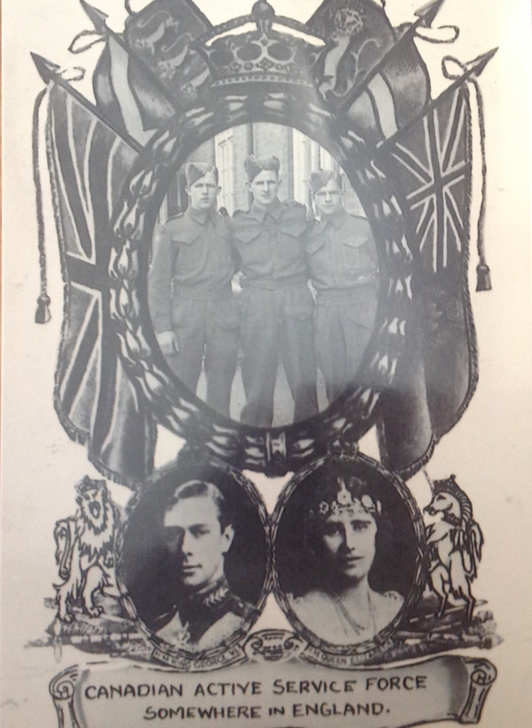 3 Brothers overseas in service together, Alden, Harold and Robert (Bud) Daley