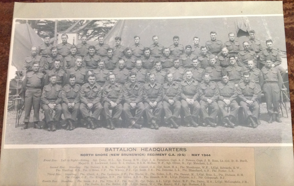 Battalion photo with names taken May 1944