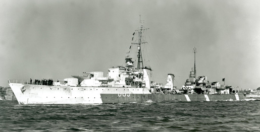 Tribal class destroyer HMCS Haida, 4 July 1944
