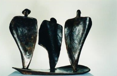 An image of the wax study used to inspire the sculpture