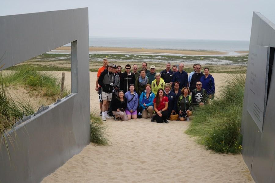 Group on the beach