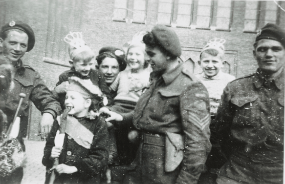 Canadian soldiers liberate Groningen in The Netherlands during WW2