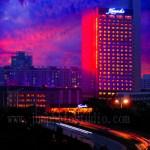 bridge and Kempinski hotel architectural photography Shenzhen