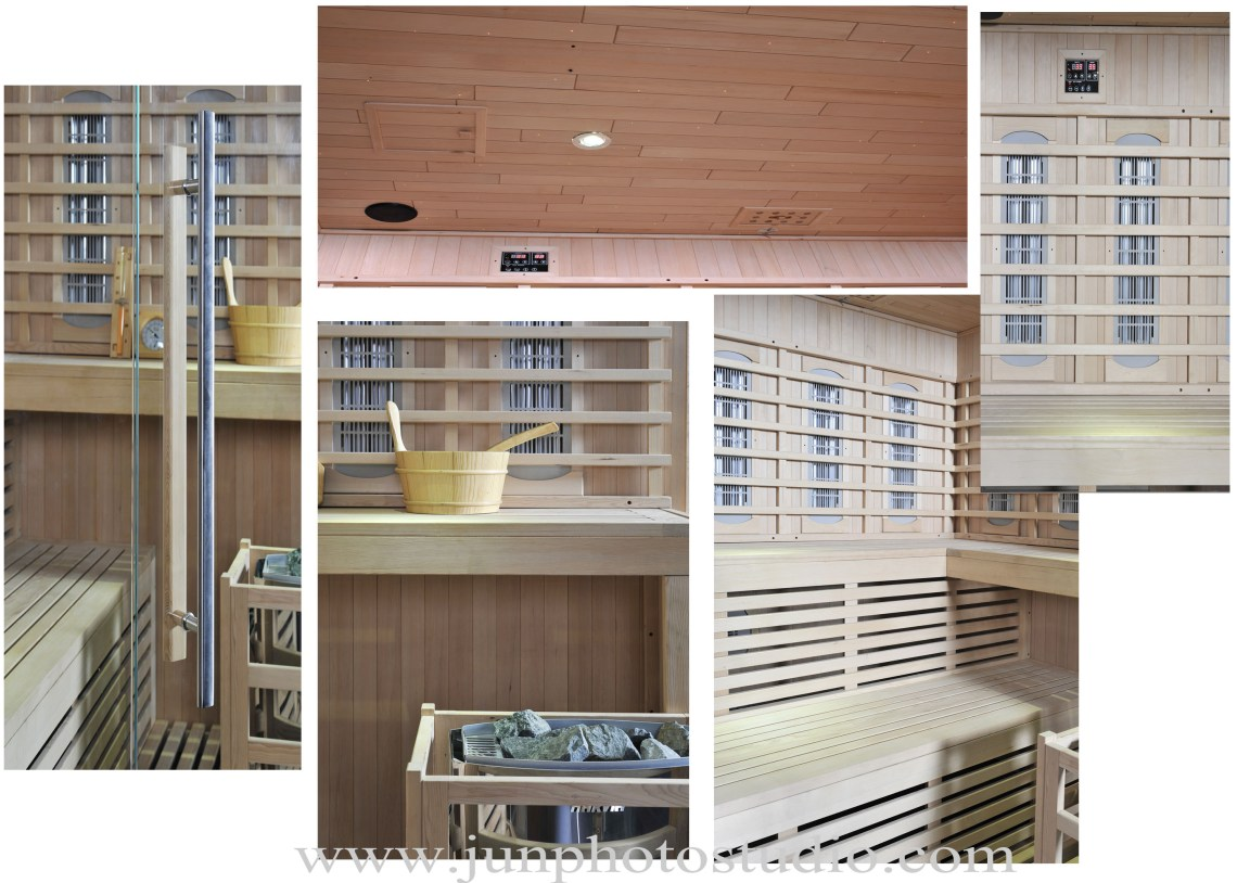 Shenzhen China furniture product photography Luxury Wooden Home Use sauna