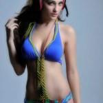 blue bikini sexy model