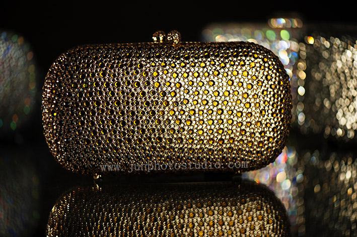 product photographer China golden evening bag