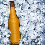 China product photography beer in ice