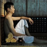 man in jade room spa photographer China