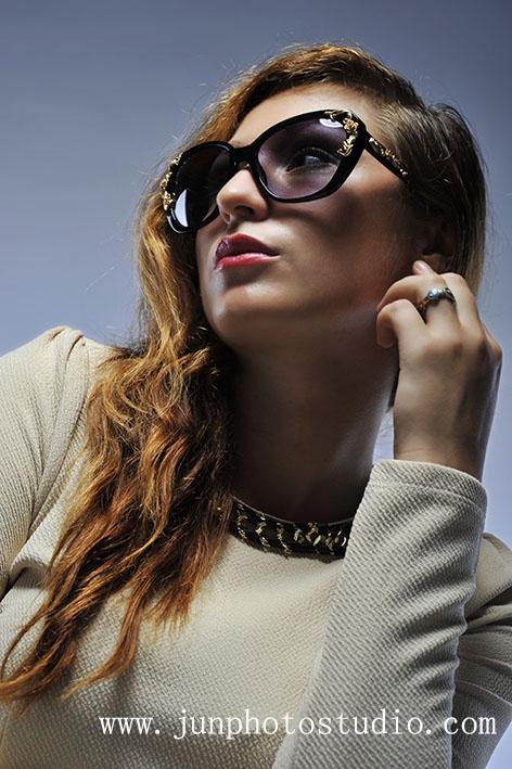 fashion photographer guangzhou girl with sun glass