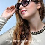 fashion photographer shenzhen model with sun glass
