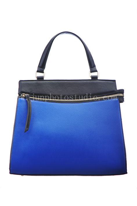 professional product photographer blue handbag