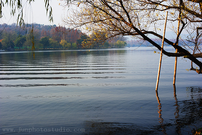 picture beautiful wave on the lake