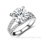 Shenzhen jewelry photographer sterling diamond ring