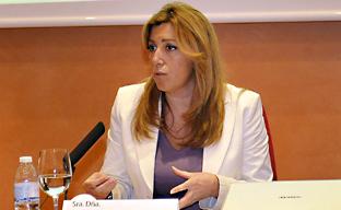 Díaz interviene en el encuentro 'Emprendimiento. Un compromiso social', organizado por El Correo de Andalucía.