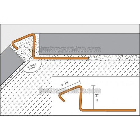 deco de profile d angle de 135º en acier inoxydable