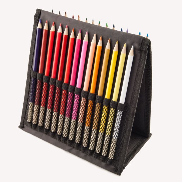 Fabric Nylon Velcro Color Pencil Holder