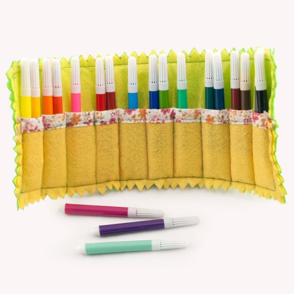Kids Felt Marker Carrier