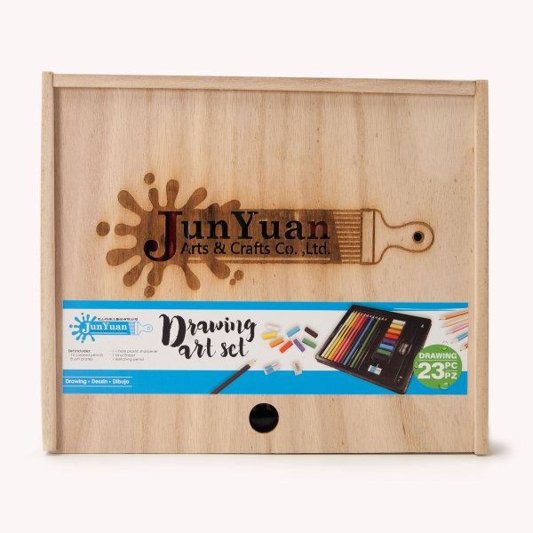 23pc Wooden Slider Drawing Art Set