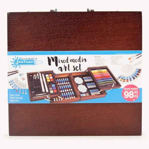 98pc Wooden Mixed Media Art Set