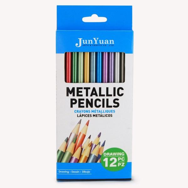 12pc Metallic Colored Pencil