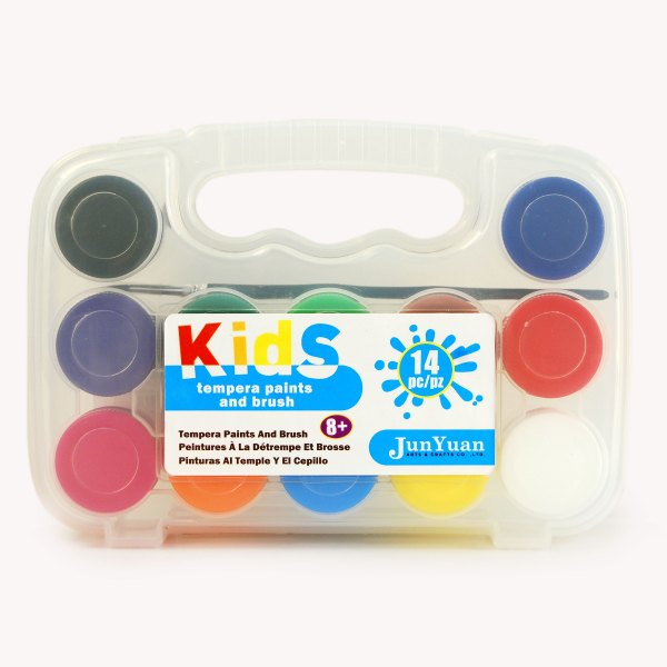 14pc Kids Plastic Tempera Paints